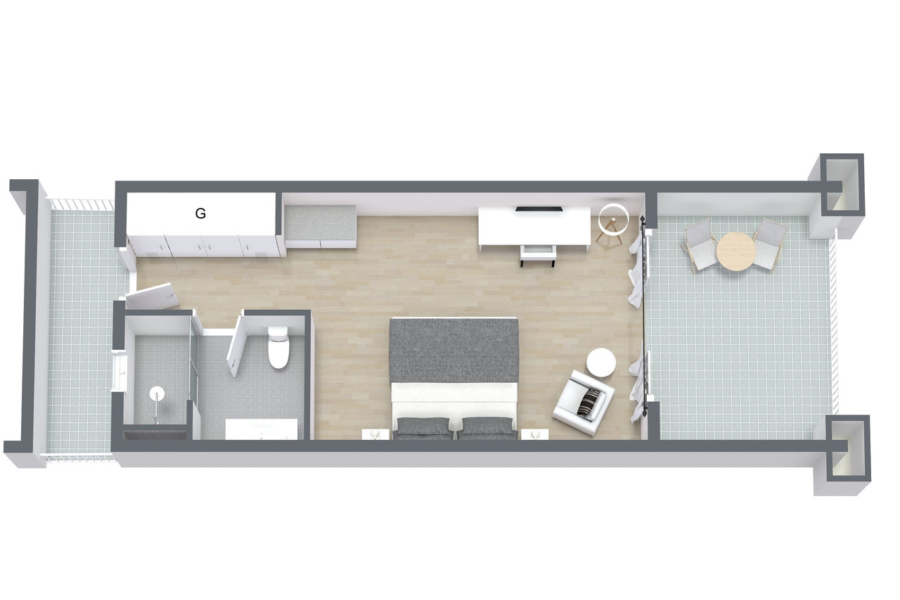 Double Room - Floor Plan